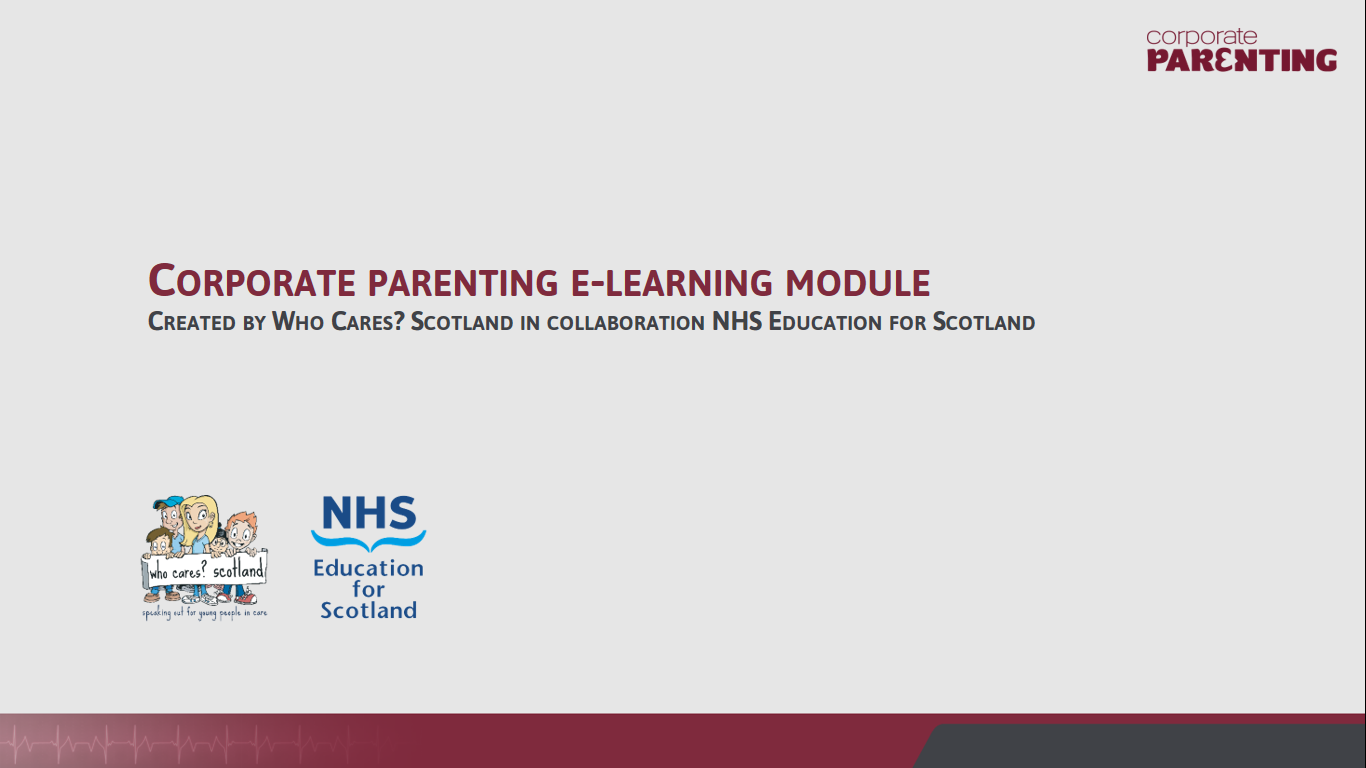 Example e-learning Module: NHS Education for Scotland